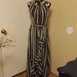 SLNY 14W Stripe Maxi Dress